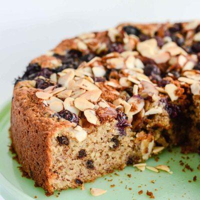 Gluten Free Blueberry Chocolate Cake