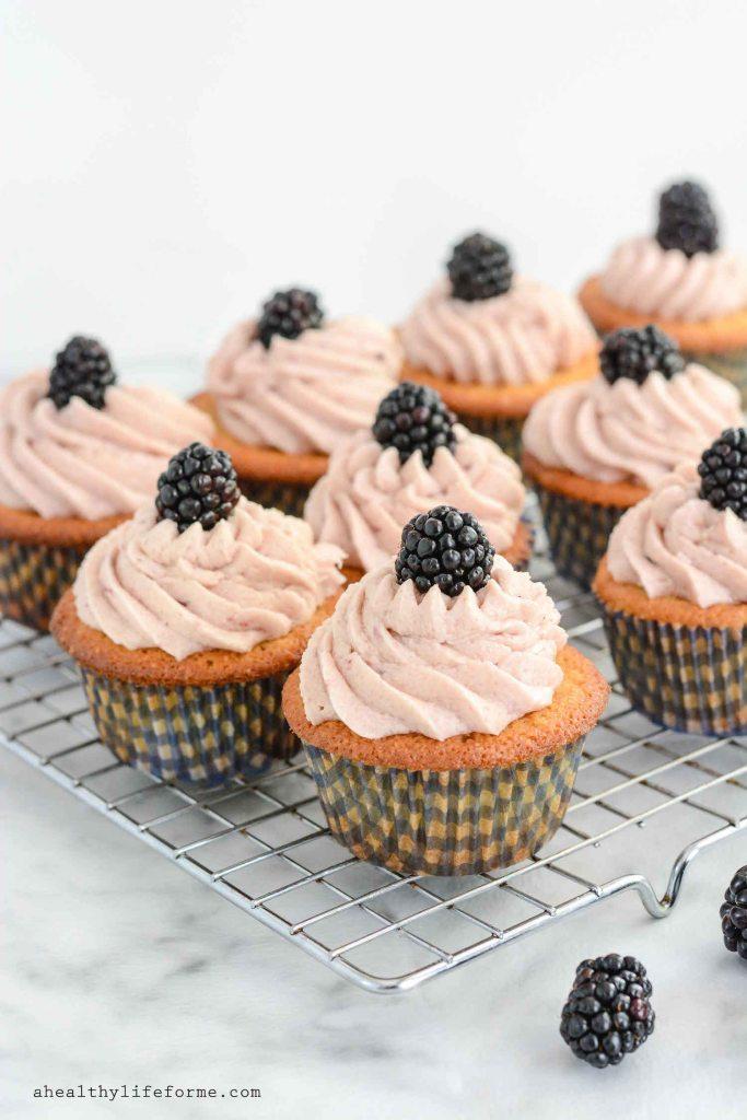 Lemon Blackberry Cupcake Recipe Gluten Free Paleo Recipe | ahealhtylifeforme.com