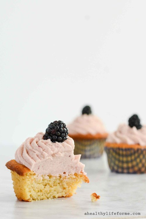 Lemon Blackberry Cupcake Recipe Gluten Free Paleo Recipe | ahealhtylifeforme.com