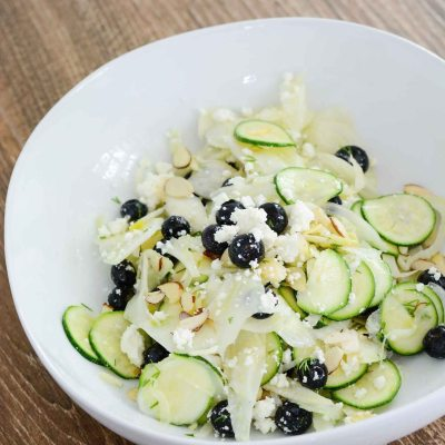 Fennel Zucchini Blueberry Salad