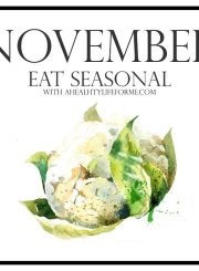 Seasonal Produce Guide for November | ahealthylifeforme.com