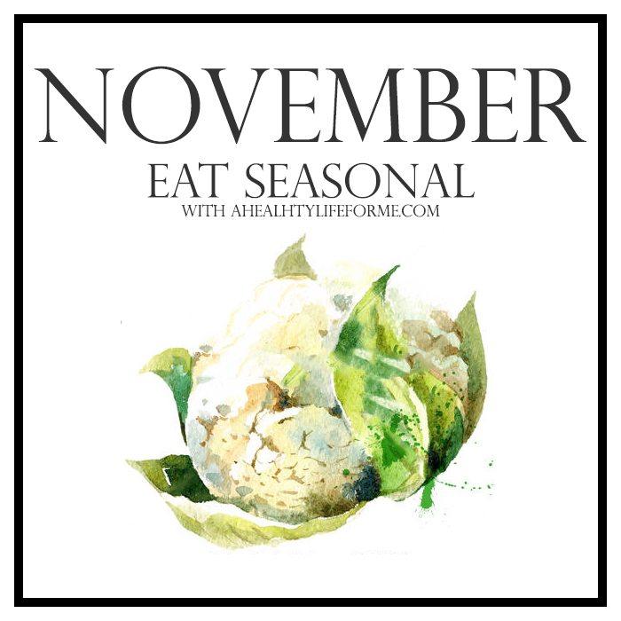 Seasonal Produce Guide for November | ahealthylifeforme.com