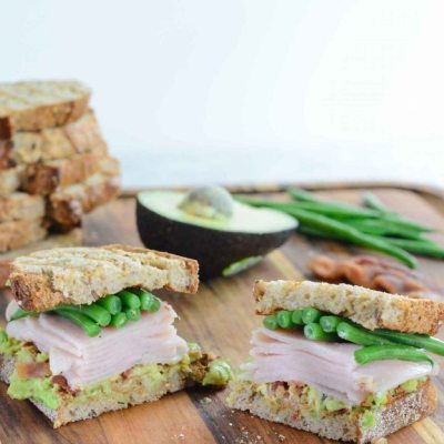 Green Bean Turkey Club Sandwich