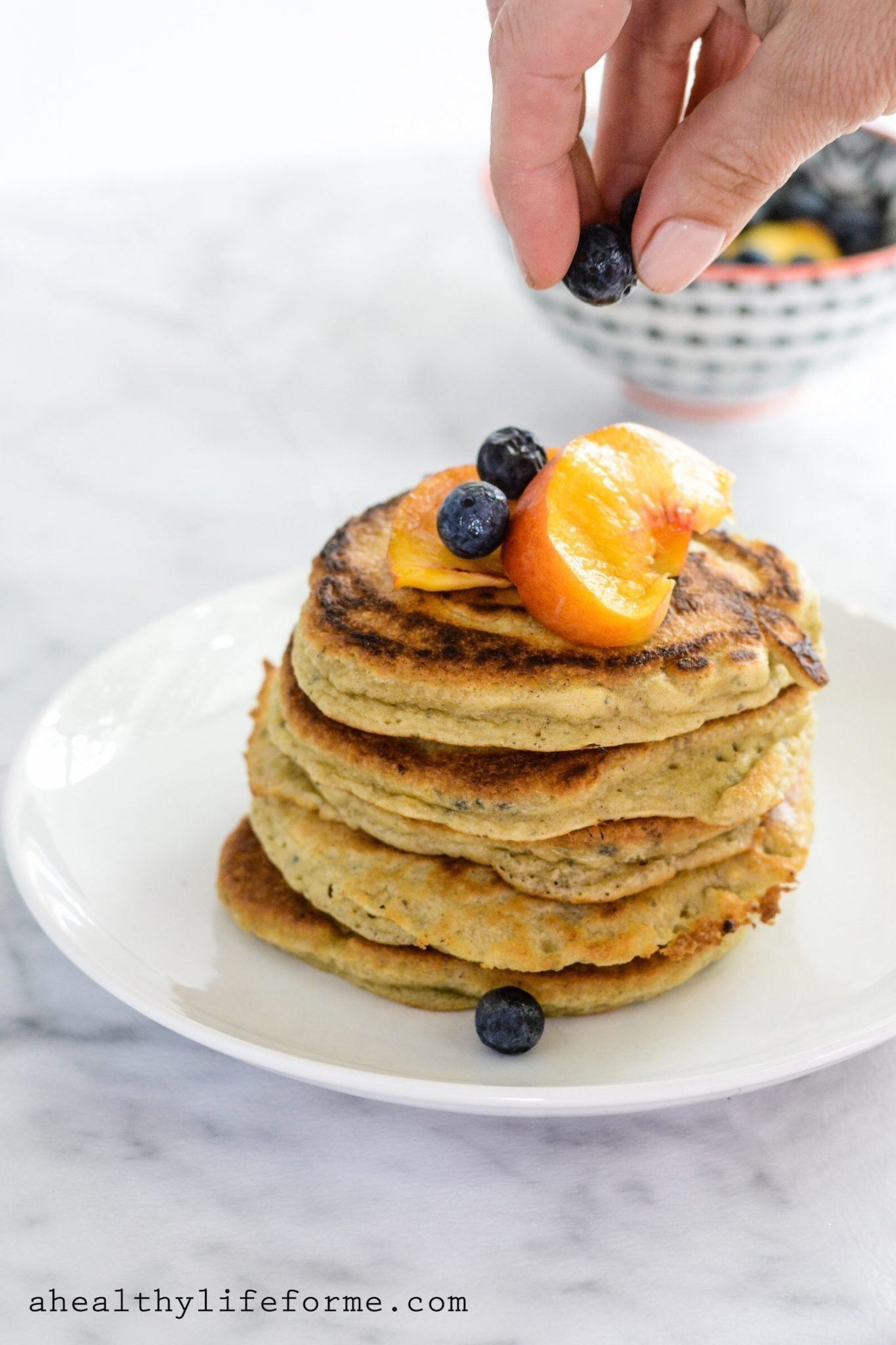 Paleo Peach Pancakes - A Healthy Life For Me