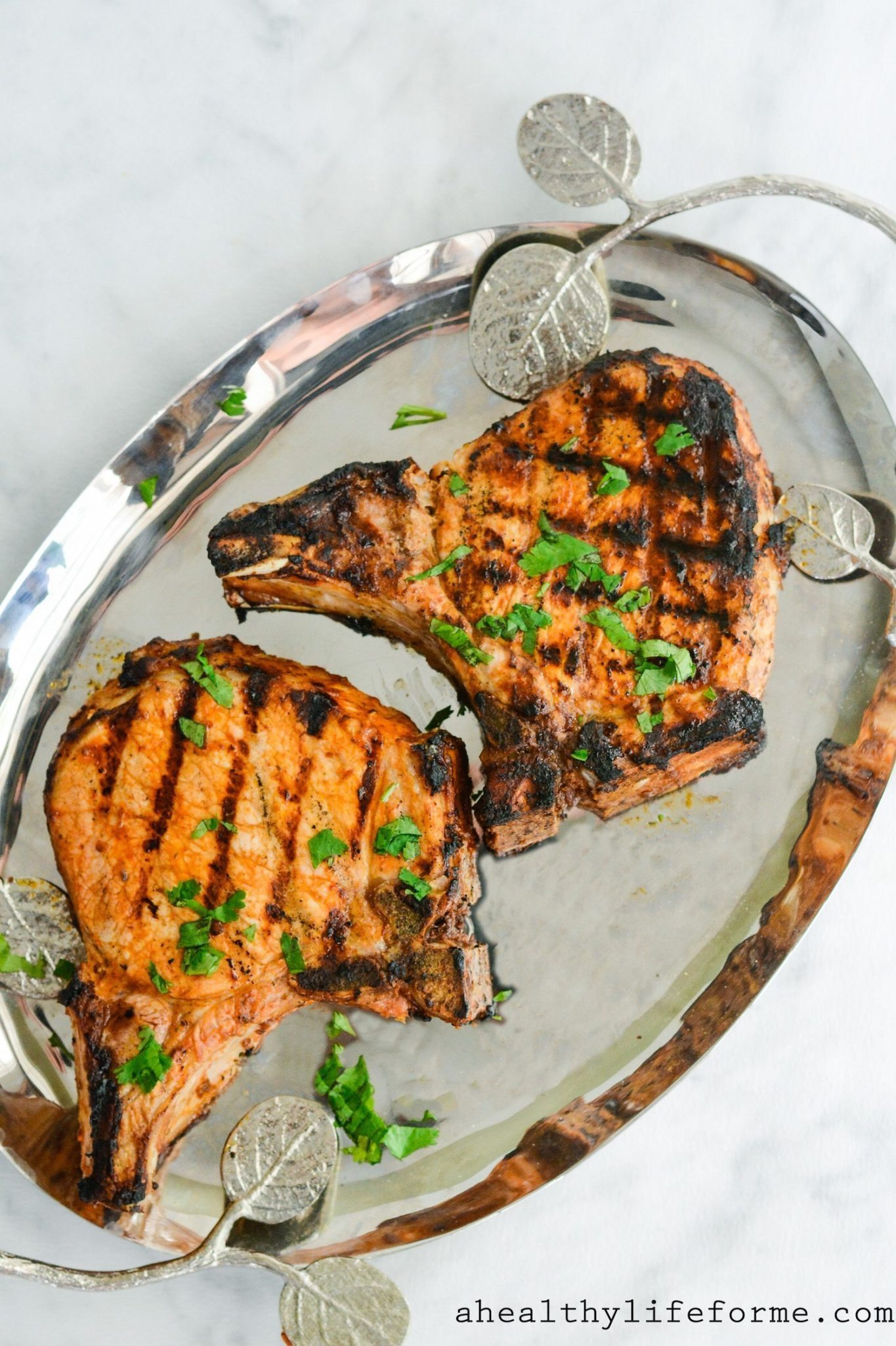 Chipotle Lime Marinated Grilled Pork Chops Are Simple Juicy Perfect Pork Chops With A