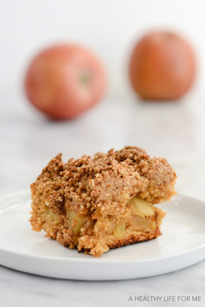 Gluten Free Apple Blondies are delicious moist, dairy free, paleo friendly recipe | ahealthylifeforme.com