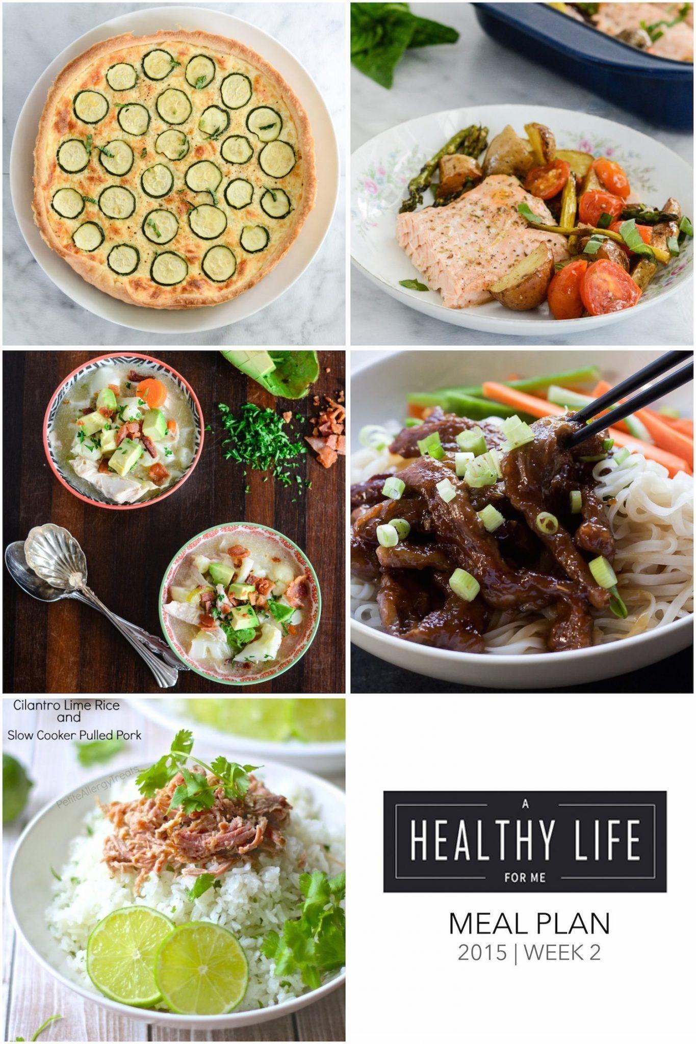 Weekly Menu Plan Week 2 A Healthy Life For Me