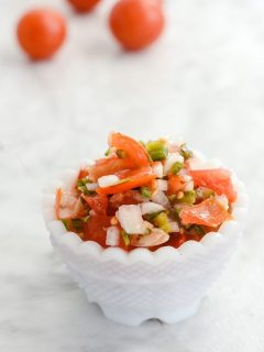 Pico De Gallo salsa recipe using fresh ingredients | ahealthylifeforme.com