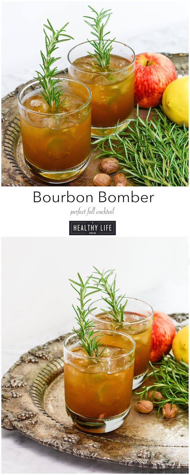 Bourbon Bomber Cocktail is the perfect drink to toast the fall season   ahealthylifeforme.com