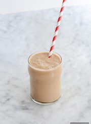 Carob Nut Banana Protein Smoothie is a great healthy way to start of your day or to recover after that tough workout | ahealthylifeforme.com