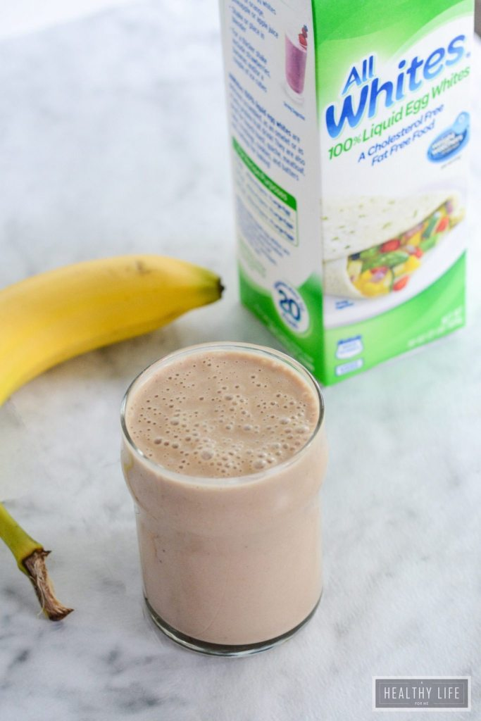 Carob Nut Banana Protein Smoothie is a great healthy way to start of your day or to recover after that tough workout   ahealthylifeforme.com
