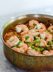 Shrimp Jambalaya is a fancy slightly spicy one pot dish that is simple to prepare and loaded with fresh flavors straight from New Orleans | ahealthylifeforme.com