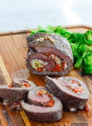 Stuffed Baked Steak is a delicous dinner that is simple to prepare that will become a family favorite. Gluten Free, Grain Free, and Soy Free   ahealthylifeforme.com
