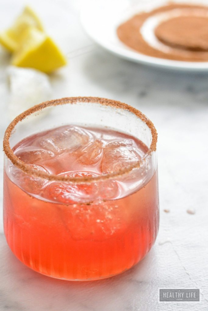 Amaretto Cranberry Spice Cocktail is a warm delicious spicy sweet cocktail recipe | ahealthylifeforme.com