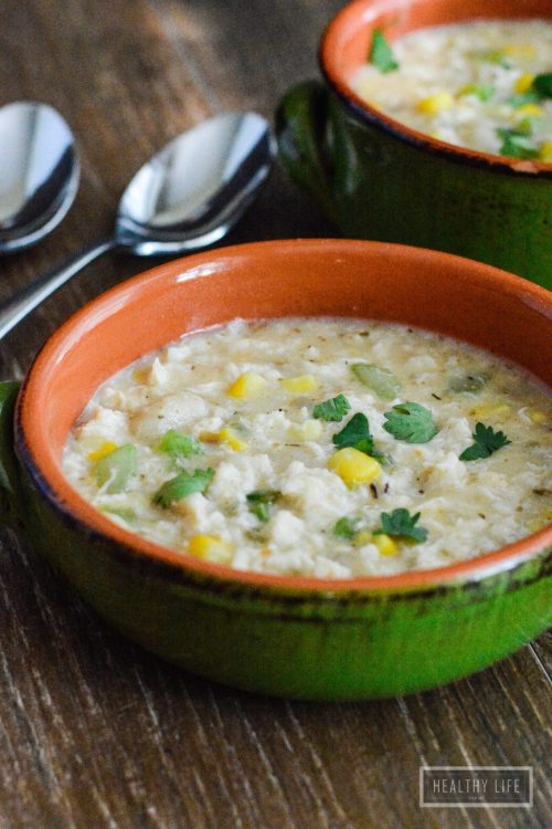 Crab Chowder is loaded with crab, corn, and gluten free gnocchi.   ahealthylifeforme.com