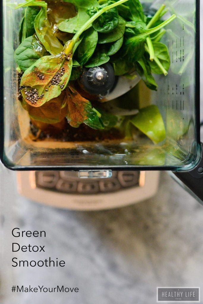 Green Detox Smoothie Recipe | ahealthylifeforme.com