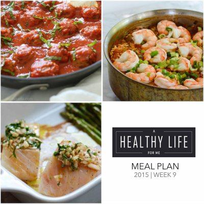 Weekly Meal Plan Week 9