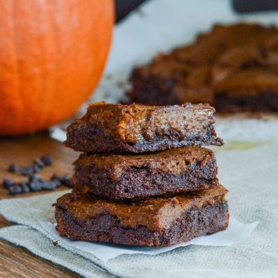 Paleo Chocolate Pumpkin Brownies {gluten free + dairy free}
