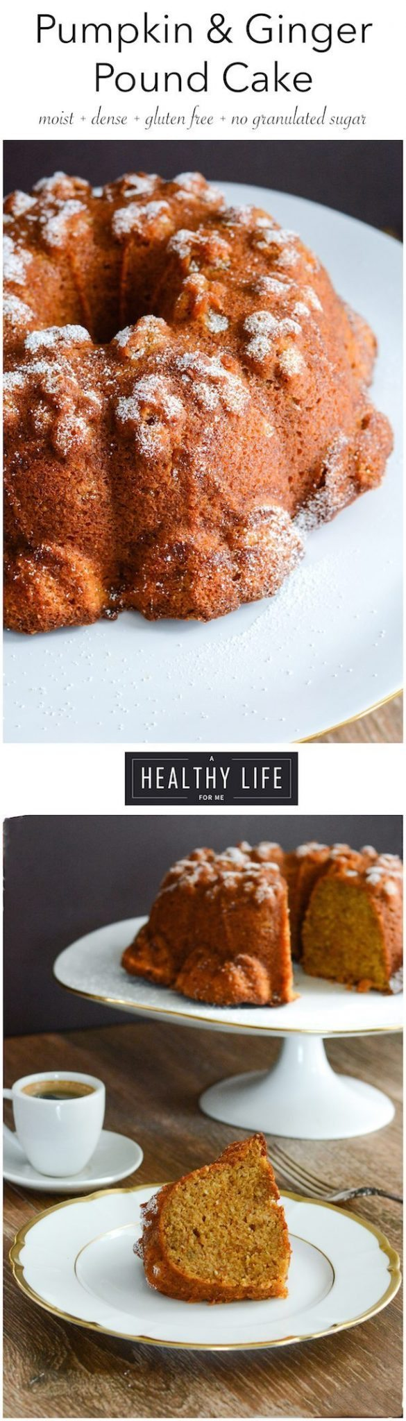 Pumpkin Ginger Pound Cake Recipe Gluten Free | ahealthylifeforme.com