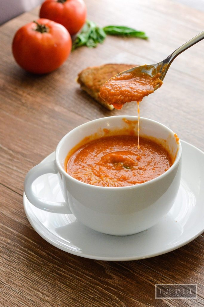 Tomato Bisque Soup is creamy delicious and gluten free recipe   ahealthylifeforme.com