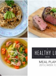 Meal Plan Week 13 with shopping list | ahealthylifeforme.com