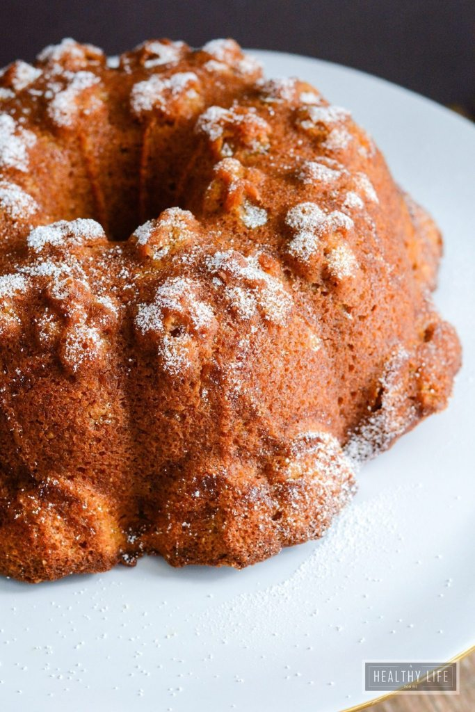 Pumpkin Ginger Pound Cake Recipe Gluten Free | ahealthylifeforme.com