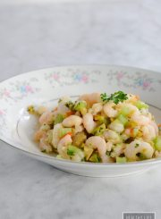 Marinated Shrimp Salad is easy make ahead healthy gluten free and paleo recipe | ahealthylifeforme.com