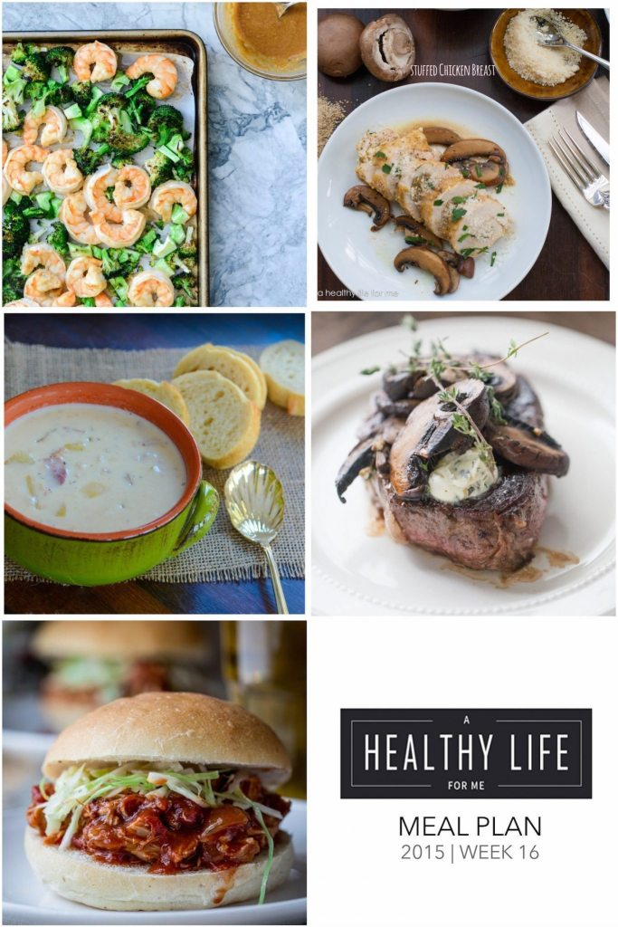 Meal Plan Week 16 | ahealthylifeforme.com