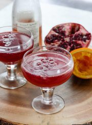 Pomegranate Orange Sparkler Cocktail Recipe | ahealthylifeforme.com