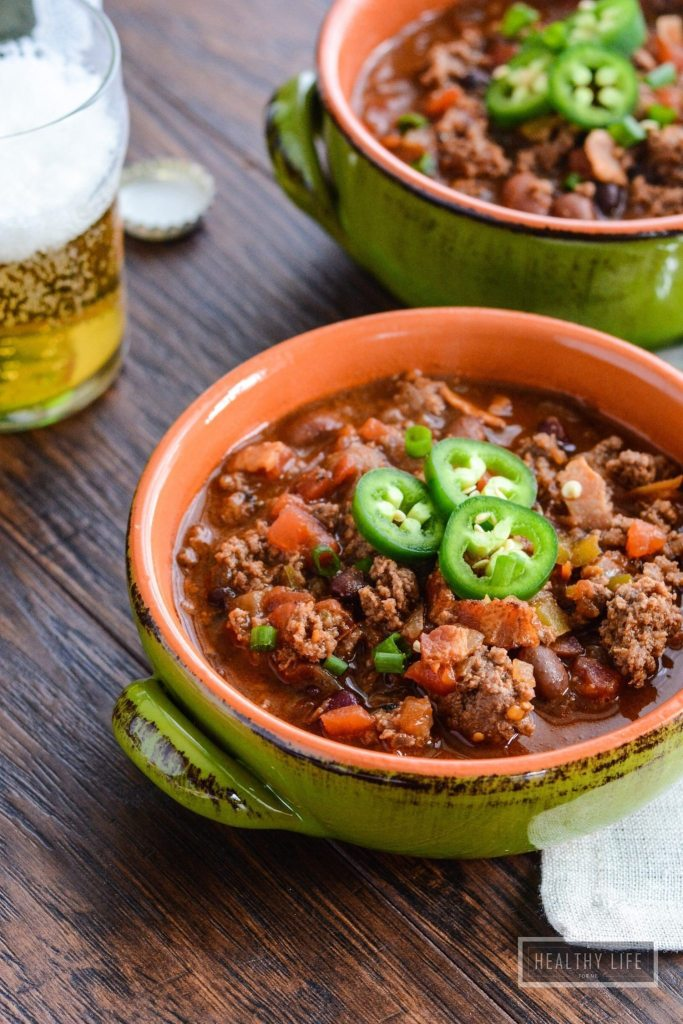 Bacon Beer Bison Chili {gluten free}-2