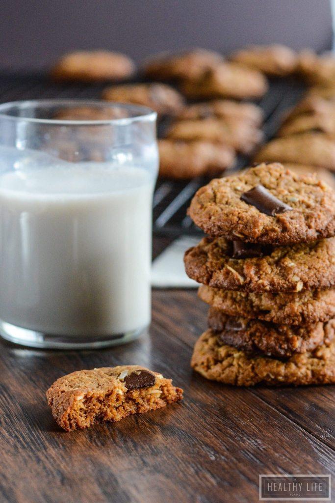 Cashew Coconut Chocolate Chip Cookie Recipe   ahealthylifeforme.com