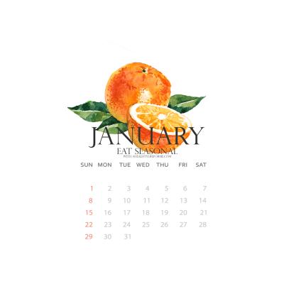 January Produce Calendar