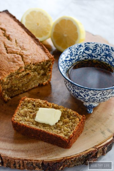 Lemon Coriander Cake Gluten free Paleo Low Calorie Recipe | ahealthylifeforme.com