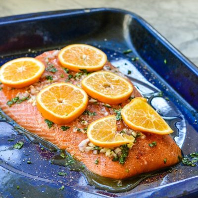 Roasted Salmon with Clementine