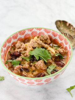 Turkey Sweet Potato Chili {gluten free + paleo}