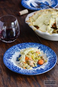 Chicken Pie with Cauliflower Crust Recipe | ahealthylifeforme.com
