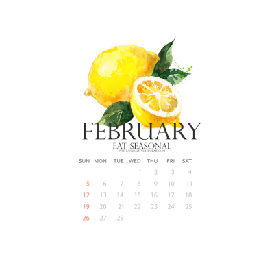 February Produce Calendar