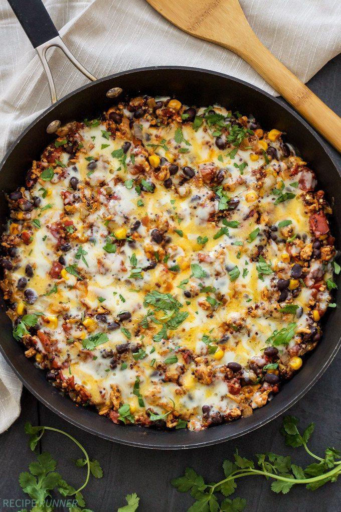 Turkey Taco Quinoa Skillet    reciperunner.com