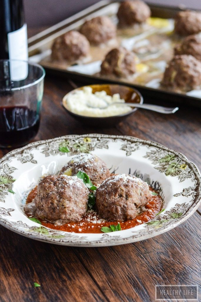 Homemade Cheddar Cheese Meatballs are a quick and easy to prepare and have a sharp cheddar cheese center.