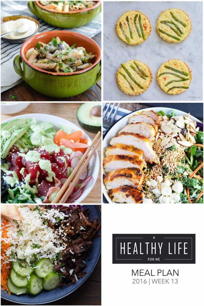 Weekly Meal Plan Week 13 | ahealthylifeforme.com