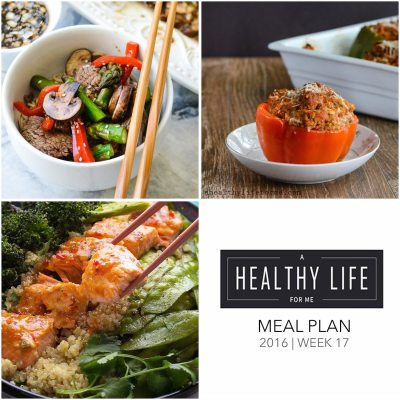 Weekly Meal Plan Week 17