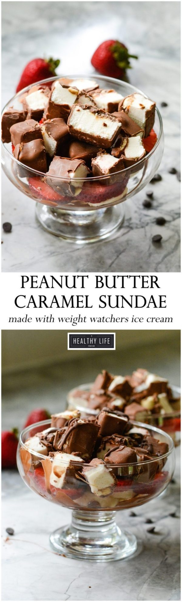Peanut Butter Caramel Sundae is the perfect cold, sweet, decadent treat that you can enjoy guilt free | ahealthylifeforme.com