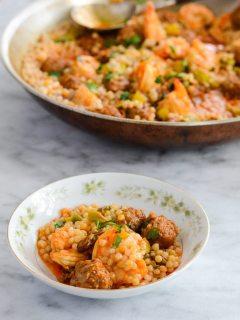 Spicy Shrimp Chorizo Stew {Gluten Free}