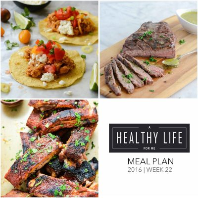 Weekly Meal Plan Week 22