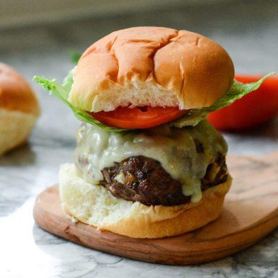 Mushroom Beef Burgers {Gluten Free}