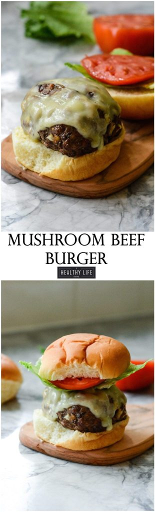 These Mushroom Beef Burgers are moist and flavorful cooked up on the grill and ready in under 30 minutes | ahealthylifeforme.com