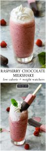 This Raspberry Chocolate Milkshake may become your new cold, sweet, yummy summer pleasure   ahealthylifeforme.com