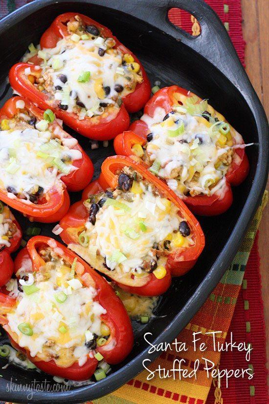 Santa Fe Turkey Stuffed Peppers |
