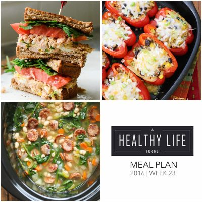 Weekly Meal Plan Week 23