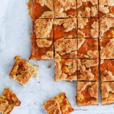 Gluten Free Apricot Bars {Paleo + Vegetarian}